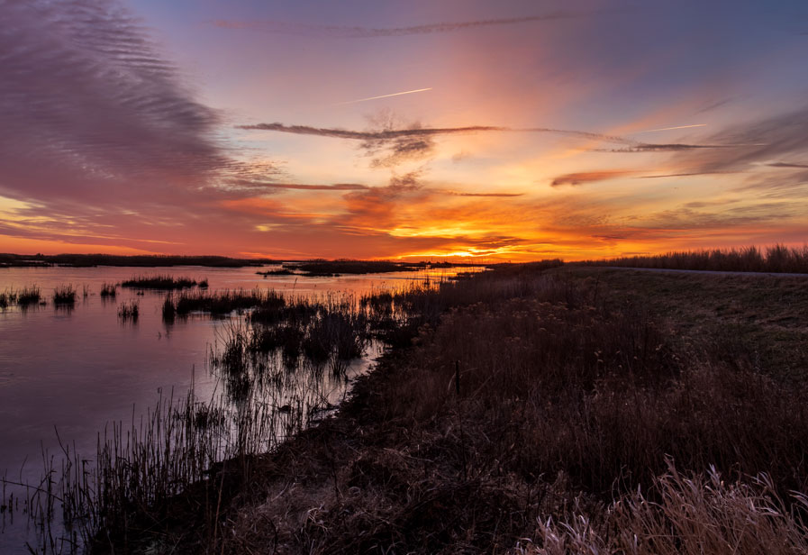 Sunrise at Edwin B. Forsythe National Wildlife Refuge, Oceanville, New Jersey